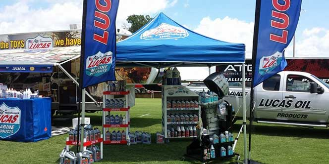 Lucas Oil Products onsite at events