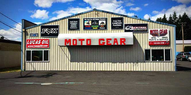 Moto Gear Outside pf shop